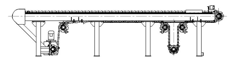 上板和排板输送机示意图